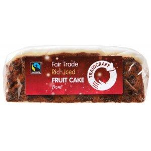 Traidcraft Rich Iced Fruit Cake - 430g