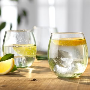 Round Recycled Glasses - Set of 4
