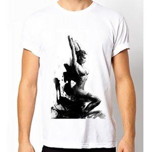 Fair-T Mens Fairtrade Brushed Girl T-Shirt