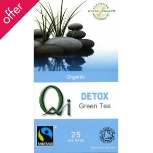 Qi Organic Fairtrade Detox Green Tea