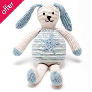 Fair Trade & Organic Blue Bunny