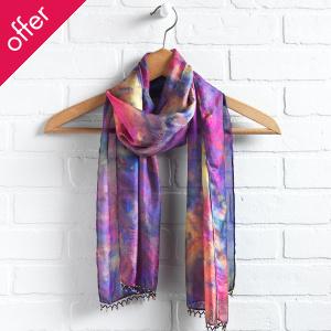 Dip-dyed Silk Scarf