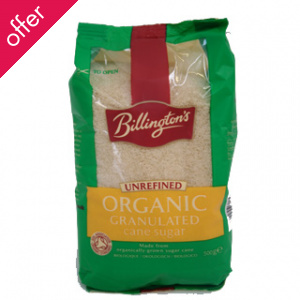 Billingtons Organic Granulated Sugar 500g