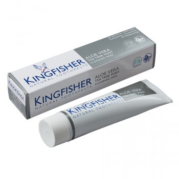 Kingfisher Fluoride Free Toothpaste - Aloe Vera, Tea Tree & Mint - 100ml