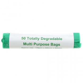 d2w Degradable Multi Purpose Bags - 4L - Roll of 50