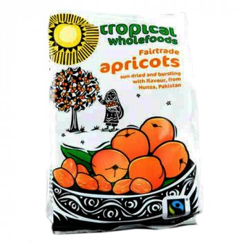 Tropical Wholefoods Fairtrade Apricots - 125g