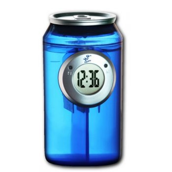 H2O Water Powered Can Clock - Blue