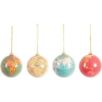 Christmas Globe Baubles - Set of 4