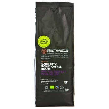 Equal Exchange Organic Whole Beans Dark Roast Coffee - 1kg