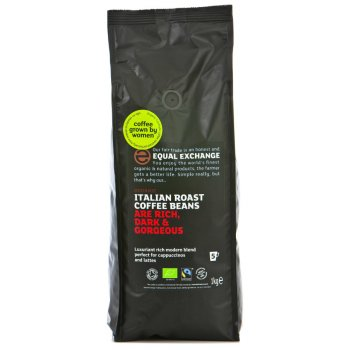 Equal Exchange Italian Roast Coffee Whole Beans  - 1Kg