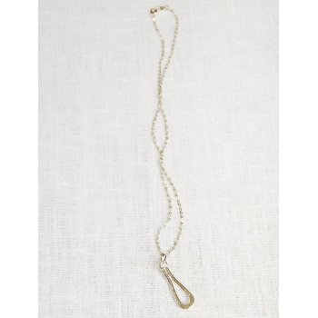 LA Jewellery Recycled Silver Wave Necklace