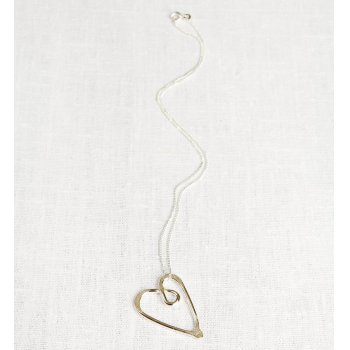 La Jewellery Recycled Silver Love Neckalce