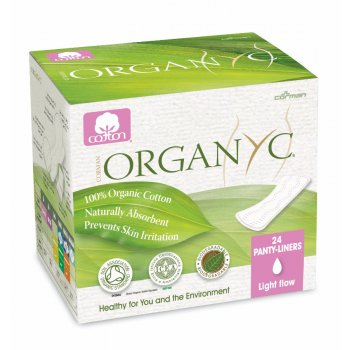 Organyc Panty Liners - Light Flow - Pack of 24 - Individually Wrapped