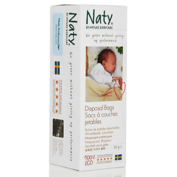 Naty by Nature Babycare ECO Disposal Bags - Pack of 50