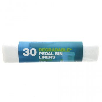 d2w Degradable Pedal Bin Liners - 20L - Roll of 30