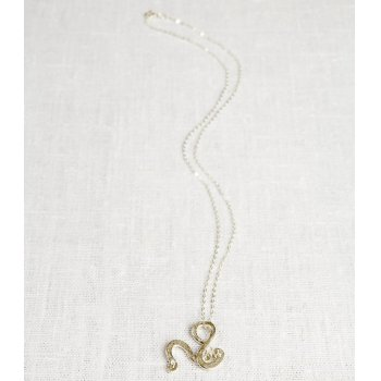 La Jewellery Recycled Silver Petit Serpentine Necklace