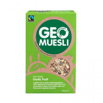 Traidcraft Fair Trade Exotic Fruit GeoMuesli 750g