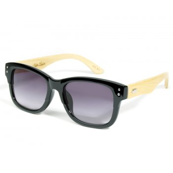 Retro Black Eco-Friendly Wooden Sunglasses