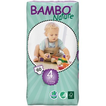 Bambo Nature Disposable Nappies - Maxi - Size 4 - Jumbo Pack of 60