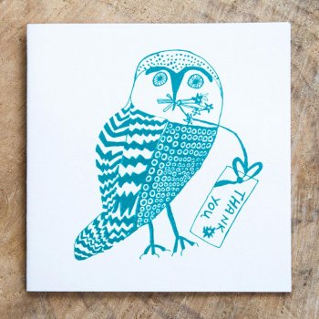 Arthouse Meath Charity Thank You Owl Card