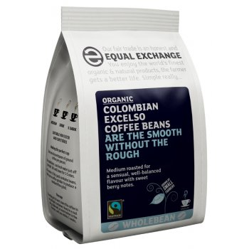 Equal Exchange Organic Colombian Excelso Whole Coffee Beans 227g