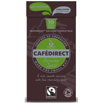 Cafedirect Peruvian Spirit Machu Picchu Espresso Coffee Pods - Pack of 10