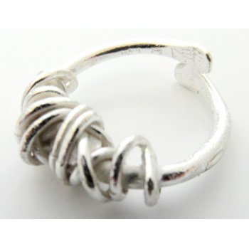 La Jewellery Recycled Fil Embale Silver Ring