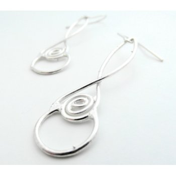 La Jewellery Recycled Laugharne Silver Earrings