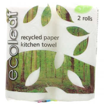Ecoleaf Recycled Paper Kitchen Towel - Pack of 2