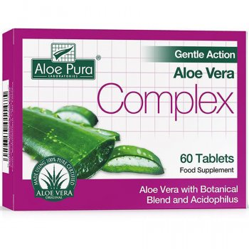 Aloe Pura Gentle Action Aloe Vera Complex Tablets - 60 tablets