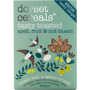 Dorset Cereals Tasty Toasted Spelt Flakes Museli - 570g