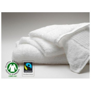Fair Trade & Organic White Bath Mat