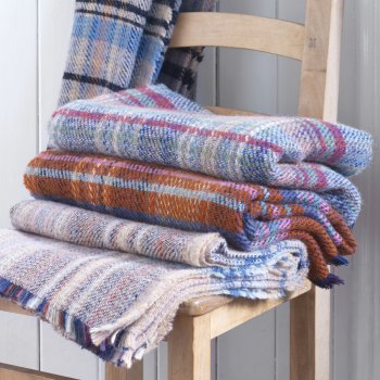 Recycled Welsh Weave Wool Picnic Rug