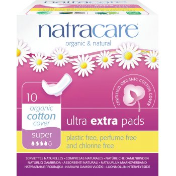 Natracare Organic Ultra Extra Pads - Super with Wings