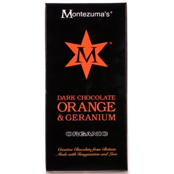 Montezumas Organic Orange & Geranium Dark Chocolate - 90g