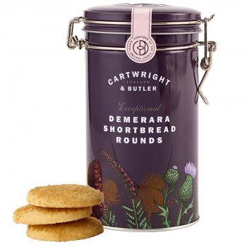 Cartwright & Butler Demerara Shortbread Rounds in Tin - 200g