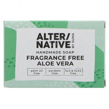 Alternative by Suma Handmade Soap - Fragrance Free Aloe Vera - 95g