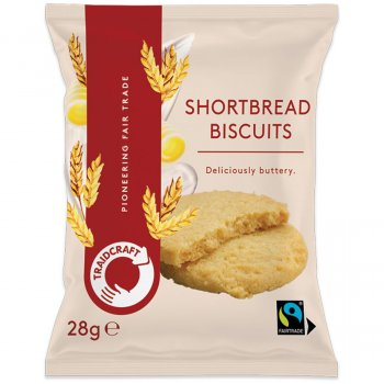 Traidcraft Fairtrade Shortbread Biscuits - 28g