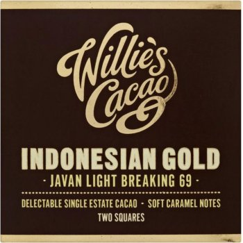 Willies Cacao Indonesian Gold Dark Chocolate - 80g