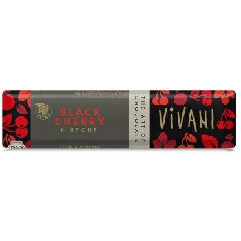 Vivani Organic Black Cherry Chocolate - 35g