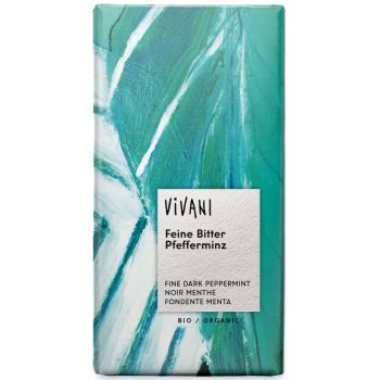 Vivani Organic Dark Chocolate  & Peppermint Filling - 100g