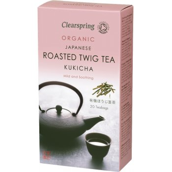 Clearspring Kukicha Japanese Roasted Twig Tea - 20 Bags