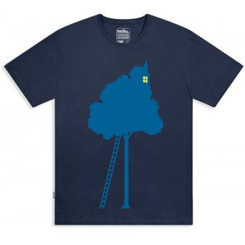 Silverstick Mens Organic Cotton Treehouse Tee - Navy
