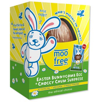 Moo Free Organic & Dairy Free Bunnycomb Chocolate Easter Egg - 120g