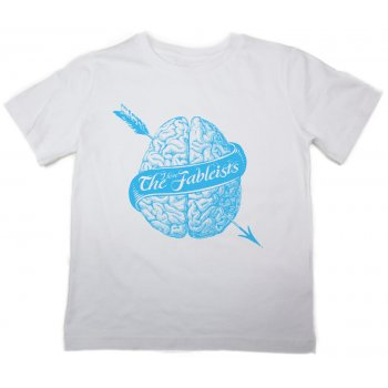 The Fableists Brain Organic Unisex T-Shirt - White
