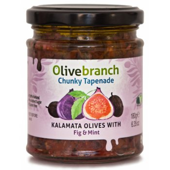 Olive Branch Chunky Tapenade - Kalamata Olives With Fig & Mint - 180g