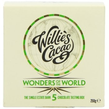 Willies Cacao 5 Wonders of the World Chocolate Tasting Box - 5 x 50g
