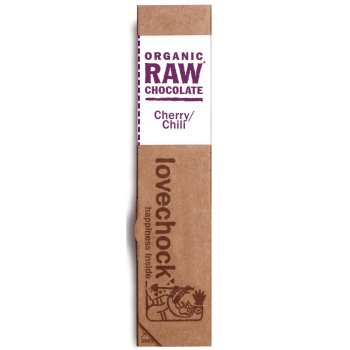 Lovechock Raw Organic Cherry Chilli Chocolate 40g