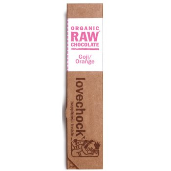 Lovechock Raw Organic Goji & Orange Chocolate 40g