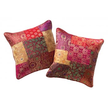 Brocade Patchwork Cushion Cover - 40 x 40cm